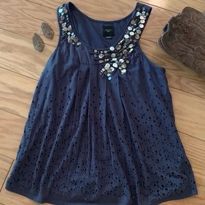 Deletta embellished top